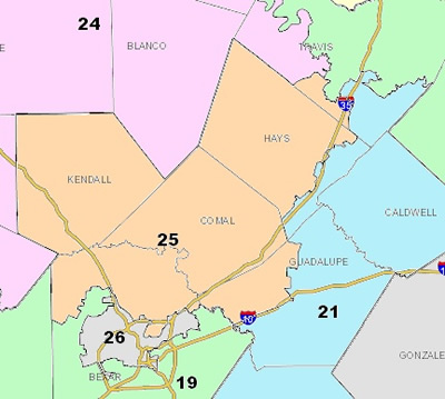 Texas Senate District 25 Map